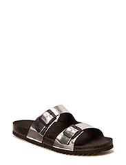 Double strap sandal - silver
