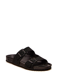Double strap sandal - black