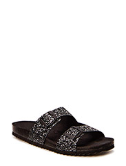 Double strap sandal - antic silver