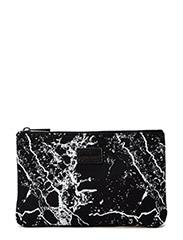 Canvas clutch - BLACK WHITE MIX