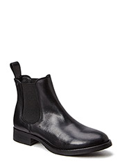 Smooth low boot - black