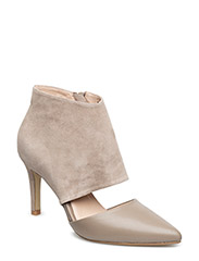 Mixed leater stilletto - TAUPE