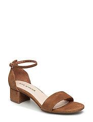 flat suede sandal - TAN