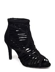 braided boot - BLACK