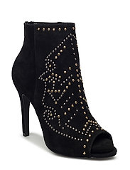 Open toe stiletto - BLACK
