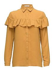 Shirt w frill - MUSTARD