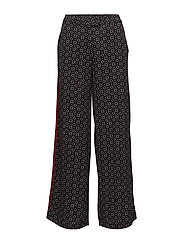 Trousers - BLACK/ WHITE