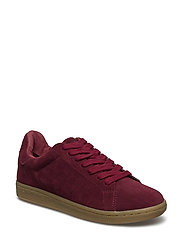 sneak suede - DARK RED