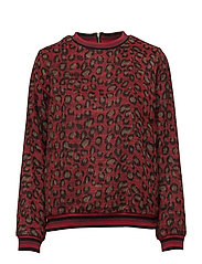 Sweater - RED LEOPARD