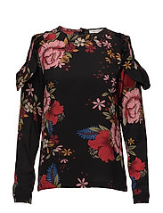 Blouse - BLK FLOWER