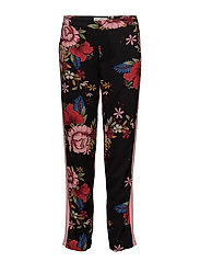 Trousers - BLK FLOWER