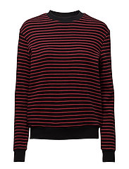 Sweat knit - BLACK RED