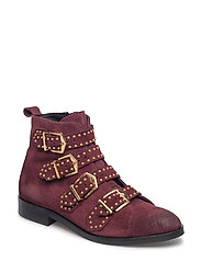 boot belt suede - DARK RED