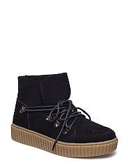 boot w. lace - BLACK