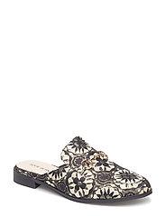 Shoe Flat jaquard - BLACK GOLD