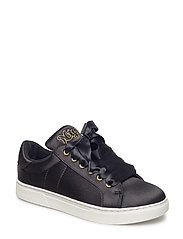 Shoe Sneak satin NYC - BLACK