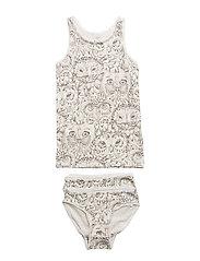 Juliette Underwear - CREAM, AOP OWL