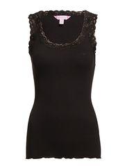 Silk Rib Camisole - BLACK