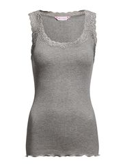 Silk Rib Camisole - LIGHT GREY MELANGE