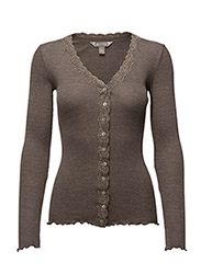 Silk Rib / Cardigan - Brown Melange