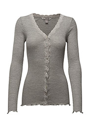 Silk Rib / Cardigan - Light Grey Melange