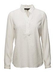 Mark Frill Shirt - 002 OFF WHITE