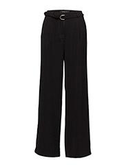 Ann Wide Pants - 001 BLACK