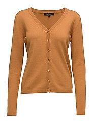 Zara Cardigan V-neck - 019 SUDAN BROWN
