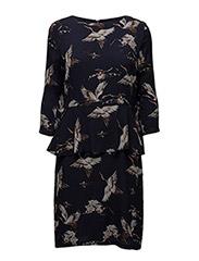 Bird Dress - 732 BIRD PRINT W. NIGHT SKY