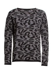 Elise Blouse - 201 Grey Leopard