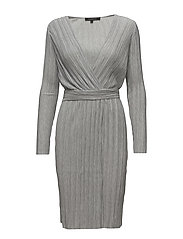 Lea Wrap Around Dress - 003 LIGHT GREY