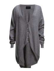 True Long Cardigan - 572 Light Grey Melange