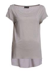 Dorthe T-shirt - 620 Light Grey