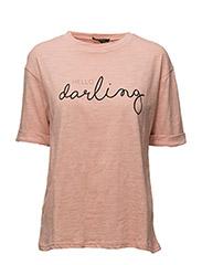 Hello T-shirt - 319 MELLOW ROSE W. BLACK