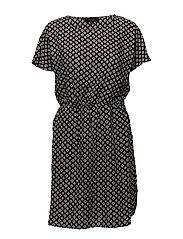 Kikka Dress - 631 PRINT BLACK
