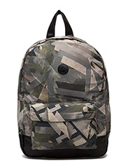 London Backpack - GREEN AOP