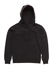 Basic hoodie with embroidery logo Alexander - BLACK