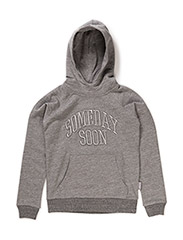 Basic hoodie with embroidery logo Alexander - GREY MELANGE