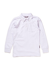 Long sleeve polo Oscar - WHITE