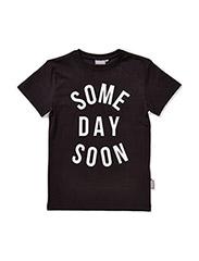 Basic printed t-shirt Hudson - BLACK