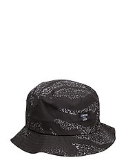Orange Bucket Hat - BLACK