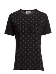 DOT AND STRSS TEE - BLACK