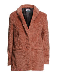 TEDDY FAUX FUR JKT - TEA ROSE