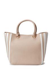 LUCIEN SHOPPING BAG - BEIGE/BLANC