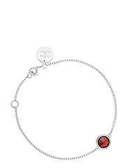 Birthstone bracelet - July - SILVER