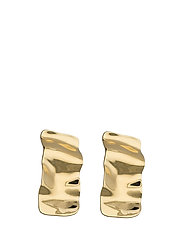 Hammered earrings - GOLD