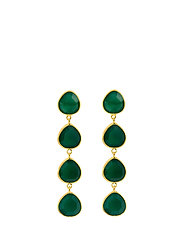 Multi stone earrings - GOLD