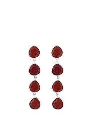 Multi stone earrings - SILVER