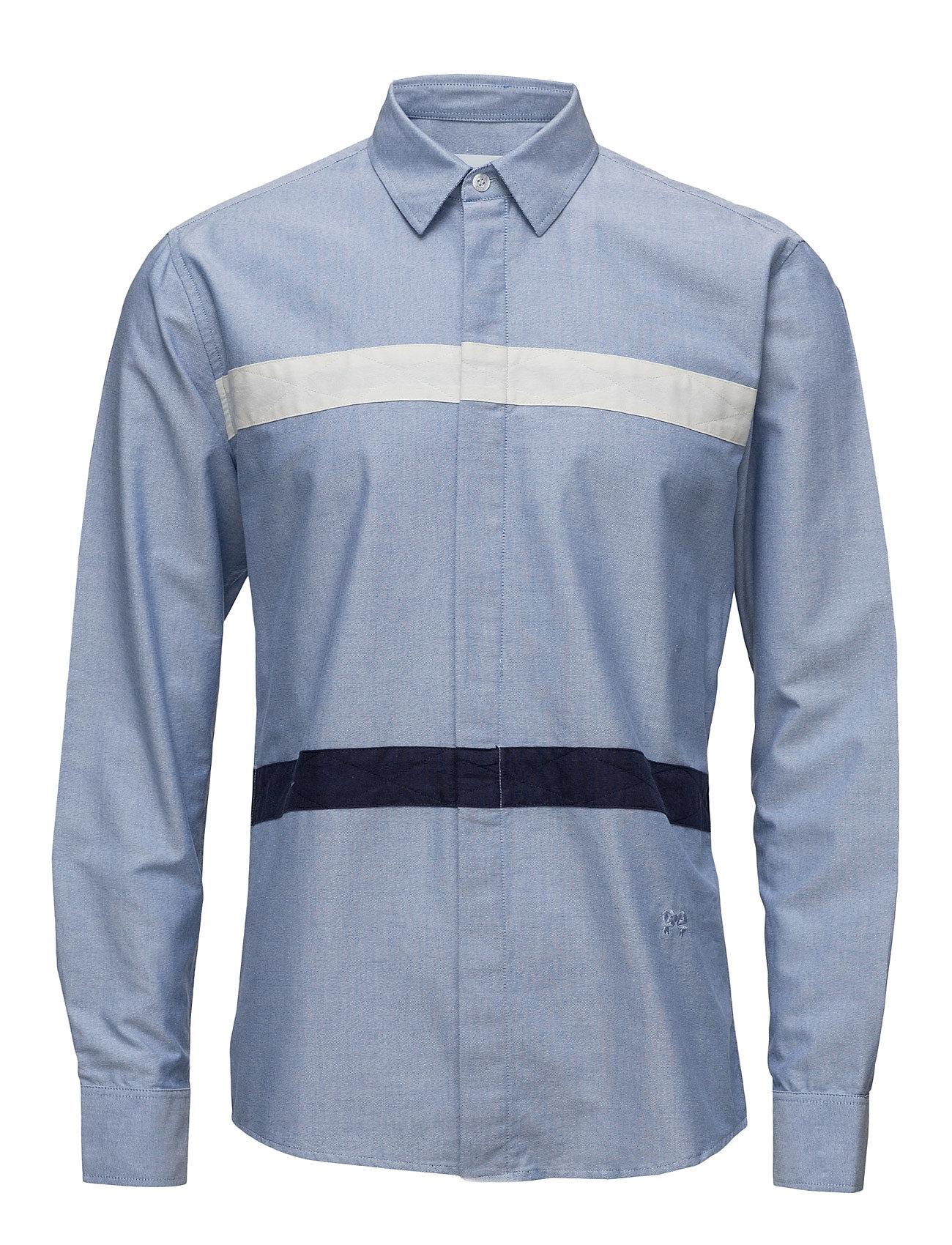 Ss17 Asklund Shirt W. Stitched Fabric Tapes Soulland Casual sko til Herrer i