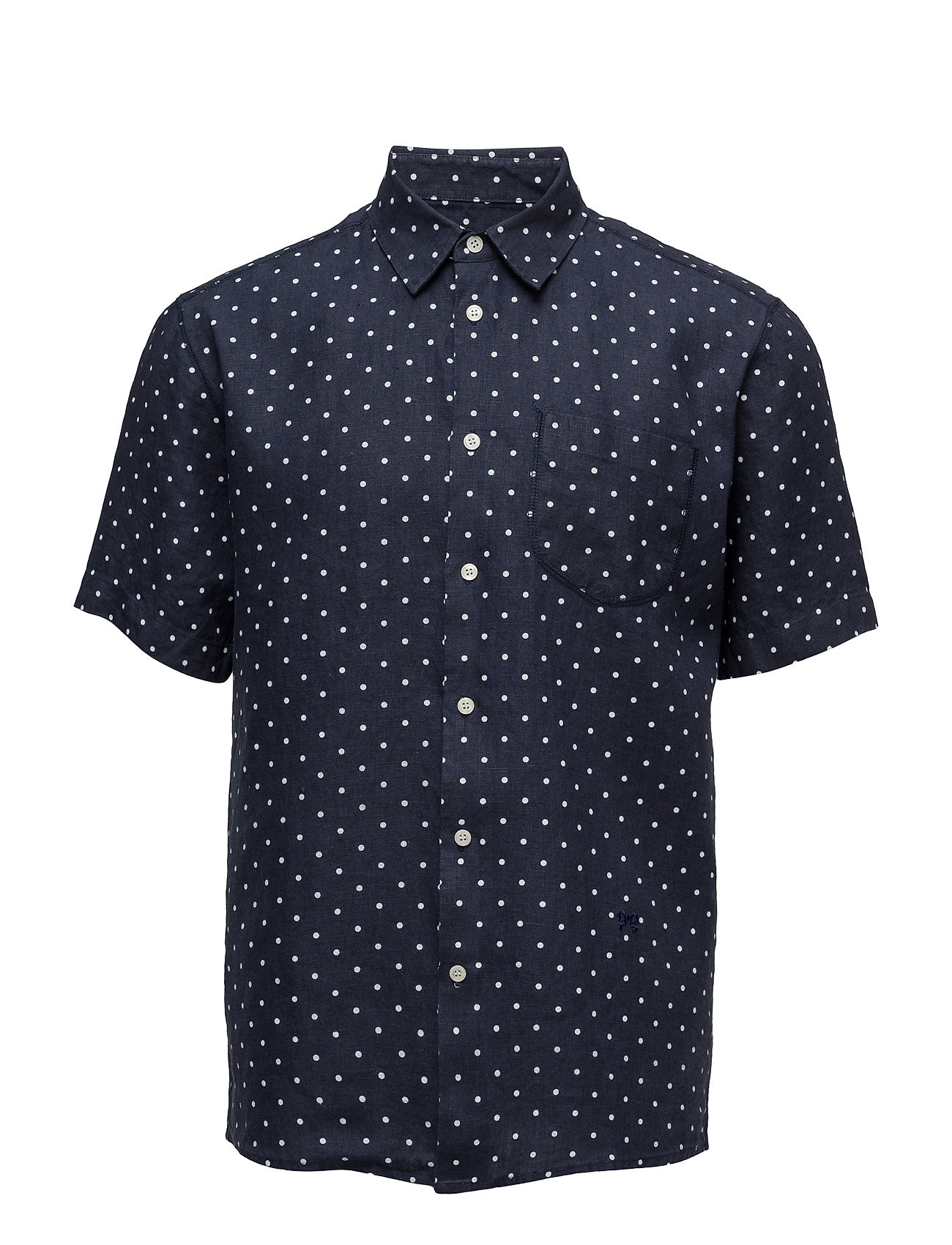 Bottoms Short Sleeve Shirt W. Pocket Soulland Kort-Hylsa